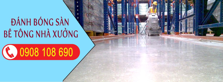 Đánh bóng sàn bê tông nhà xưởng